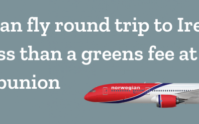 You can fly round trip to Ireland for less than a greens fee at Ballybunion